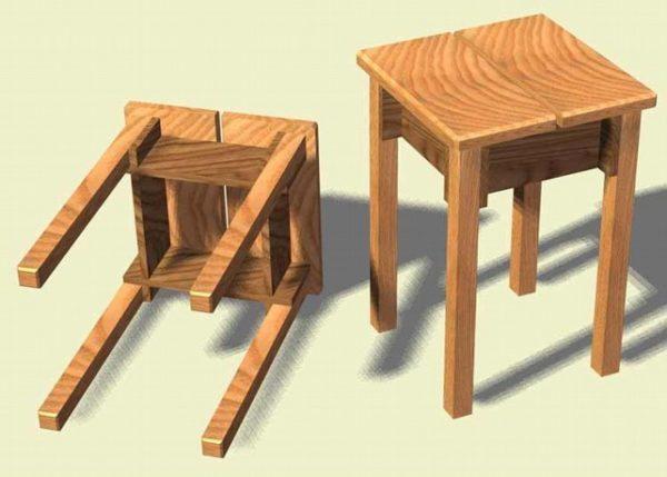 Как сделать табурет своими руками из дерева: чертежи, размеры