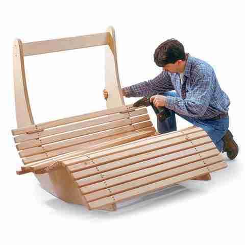 Кресло-качалка из фанеры своими руками: чертежи и схемы