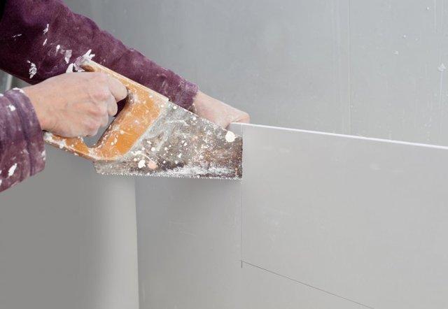 Монтаж гипсокартона на стены без каркаса: способы крепления без профиля