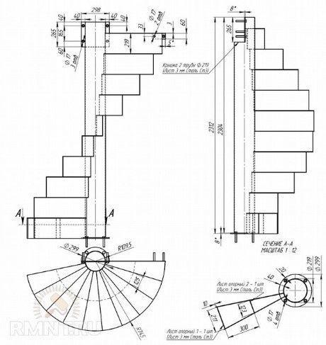 Винтовая лестница: как сделать своими руками, чертежи