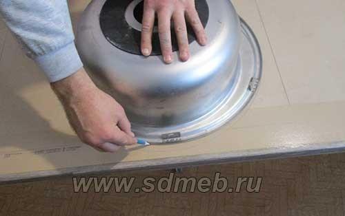 Установка мойки в столешницу: врезка своими руками, как правильно вырезать отверстие