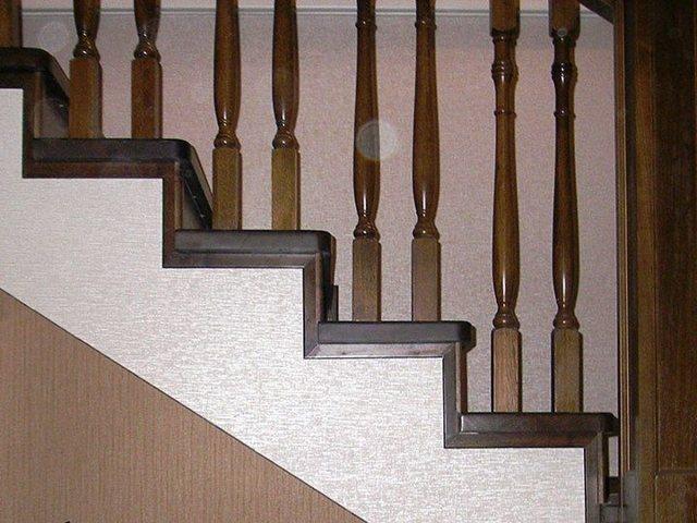 Отделка бетонной лестницы деревом своими руками