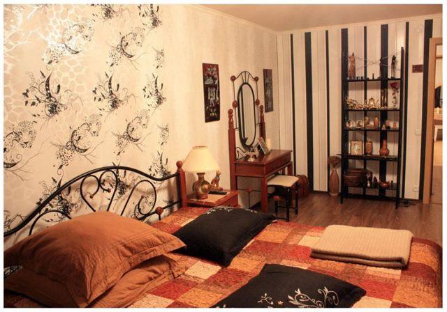 Обои для спальни: как подобрать, дизайн поклейки