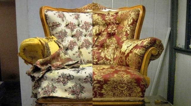 Перетяжка старого кресла: реставрация обивки своими руками