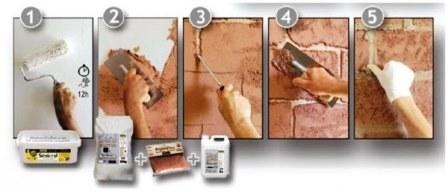 Имитация кирпичной кладки для внутренней отделки стен своими руками: как сделать?