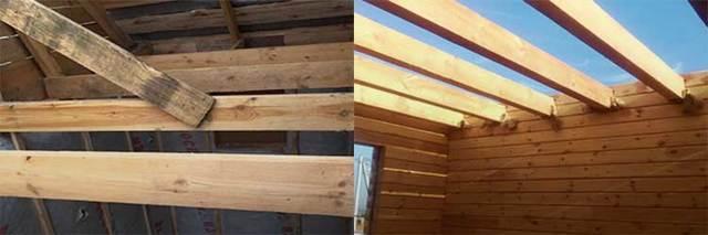 Деревянные перекрытия между первым и вторым этажом