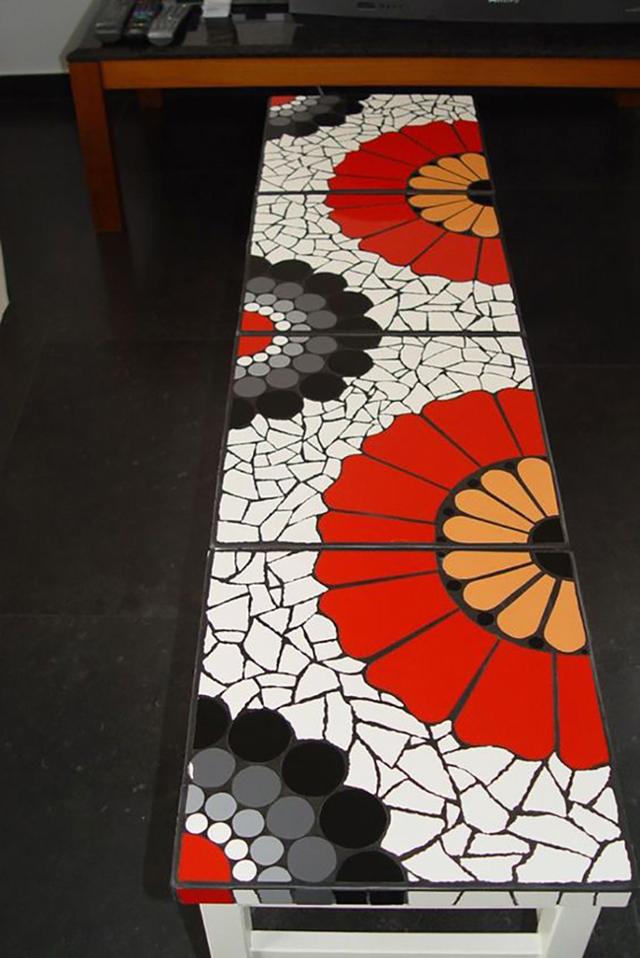 Как сделать мозаику из битой плитки своими руками