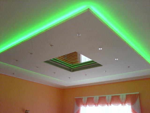Как сделать потолок с подсветкой из гипсокартона своими руками