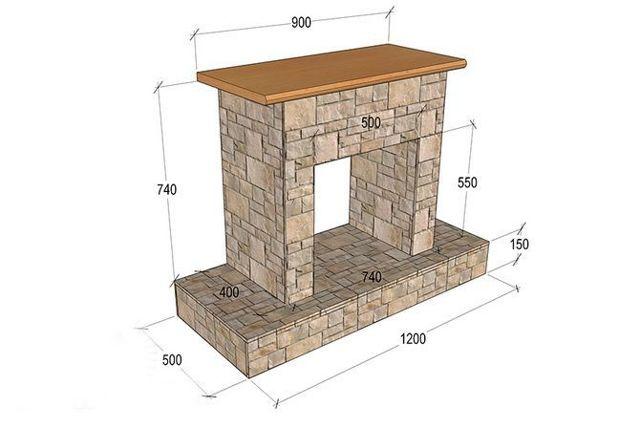 Как сделать муляж камина своими руками: пошаговая инструкция, чертежи