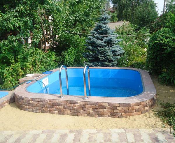 Как построить бассейн своими руками на даче, дома из пропилена, бетона, поликарбоната