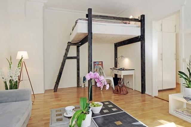 Стиль лофт в интерьере маленькой квартиры, комнаты