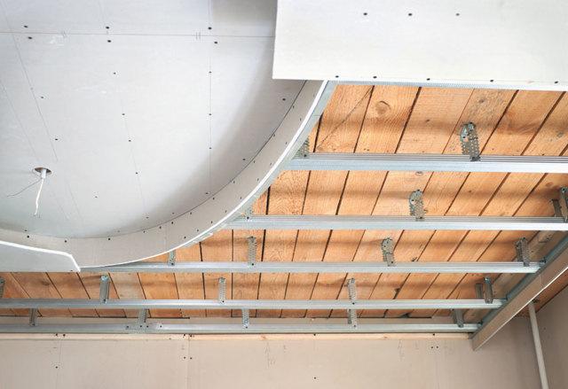 Короб из гипсокартона на потолке: монтаж профилей, схема каркаса, подсветка